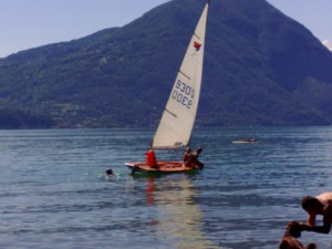 sailing at Lake lugano!