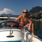 speedboat Lugano lake